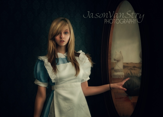Alice Wonderland looking glass fairytale fairy tale Springfield MO photography Jason Vanstry Vanstry Photography
